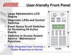 user friendly front panel