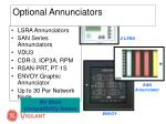 optional annunciators