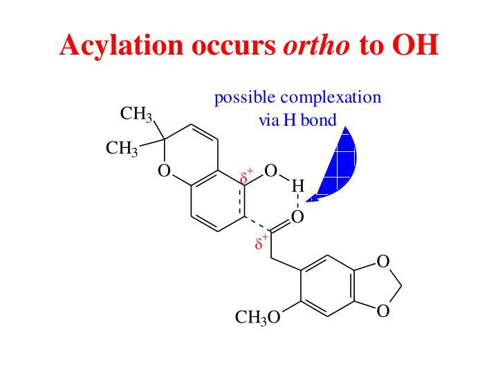 Acylation occurs