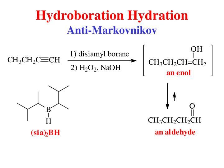 Hydroboration Hydration
