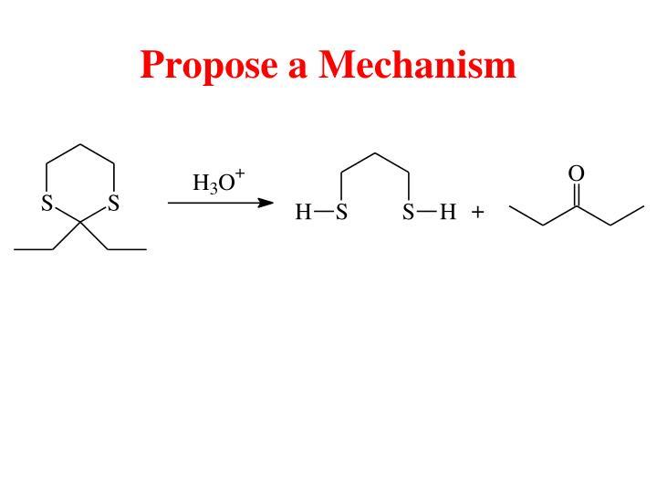 Propose a Mechanism