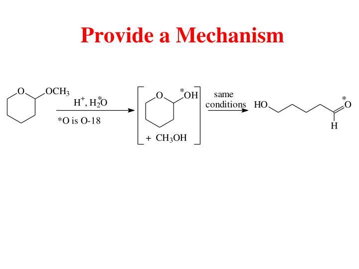 Provide a Mechanism