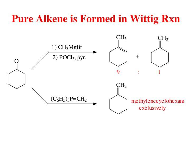 Pure Alkene is Formed in Wittig Rxn