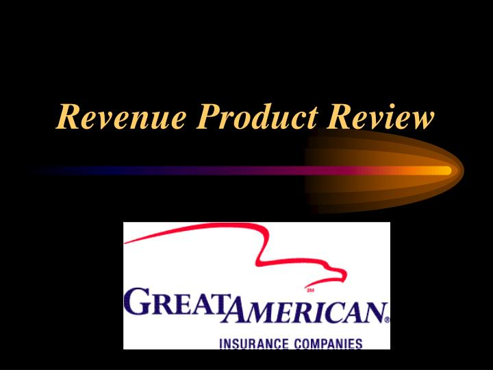 revenue product review n.