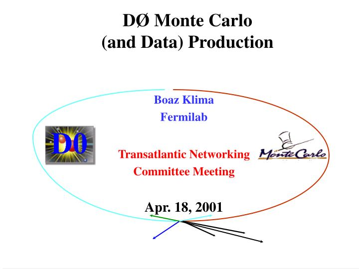 d monte carlo and data production