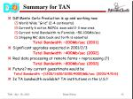 summary for tan
