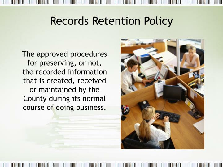 Records Retention Policy