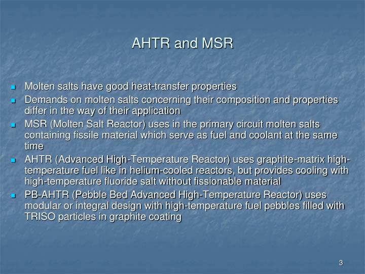 Ahtr and msr