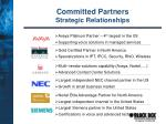committed partners strategic relationships