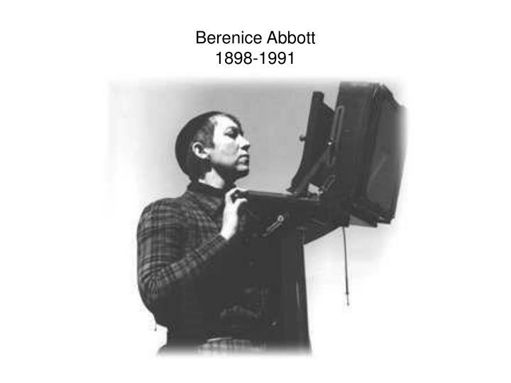 Berenice abbott 1898 1991