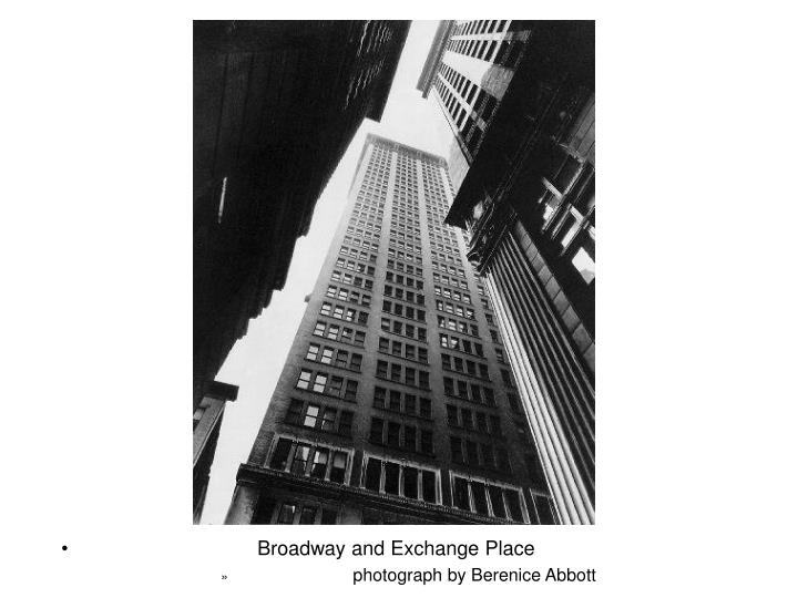 Broadway and Exchange Place