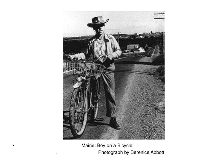 Maine: Boy on a Bicycle