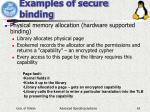 examples of secure binding