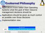 exokernel philosophy