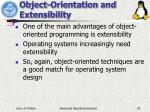 object orientation and extensibility