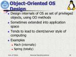 object oriented os design
