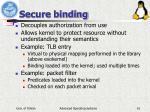 secure binding