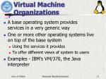 virtual machine organizations