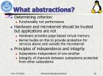 what abstractions
