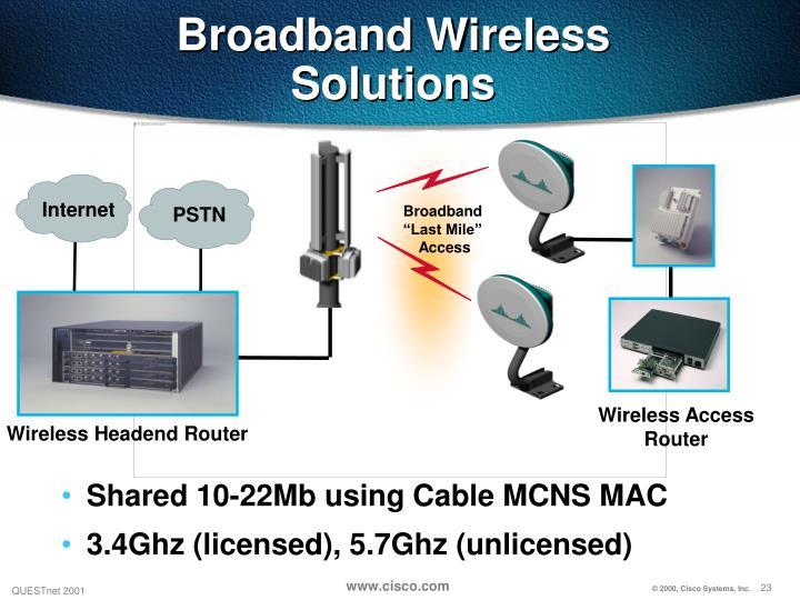 Broadband Wireless Solutions