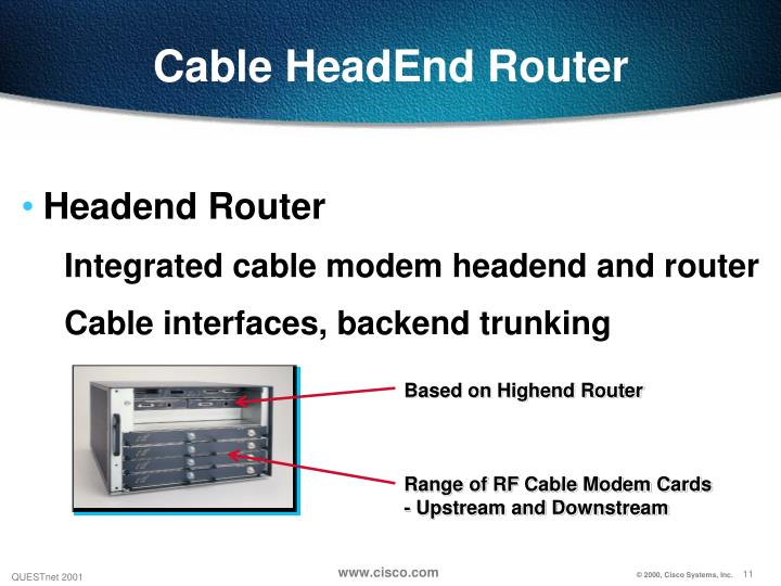 Cable HeadEnd Router
