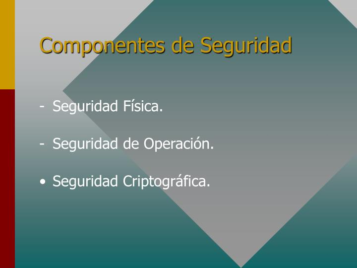 Componentes de Seguridad