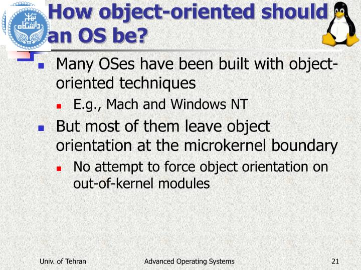 How object-oriented should an OS be?