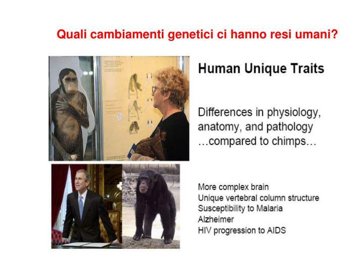 Quali cambiamenti genetici ci hanno resi umani?