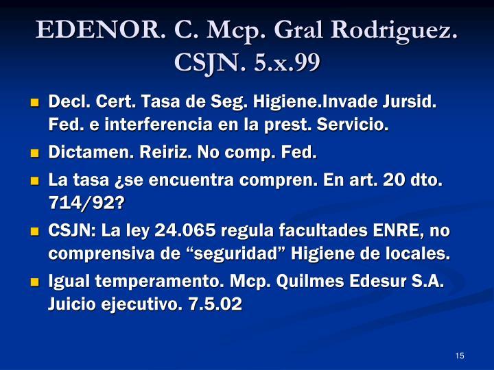 EDENOR. C. Mcp. Gral Rodriguez.