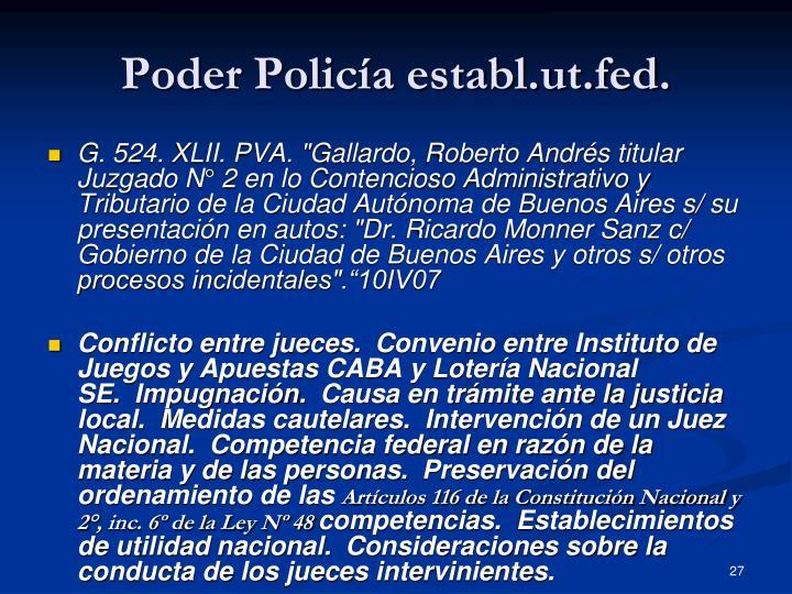 Poder Policía establ.ut.fed.