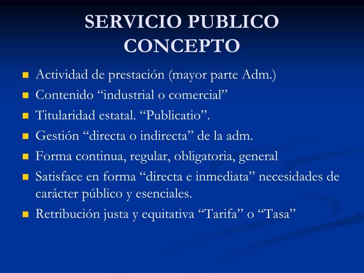 Servicio publico concepto