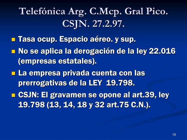Telefónica Arg. C.Mcp. Gral Pico.