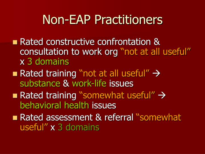Non-EAP Practitioners