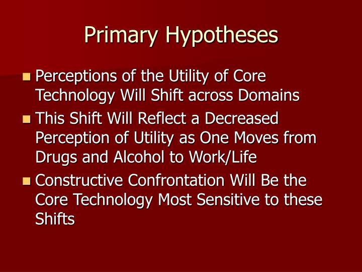 Primary Hypotheses