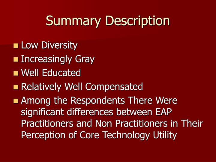 Summary Description