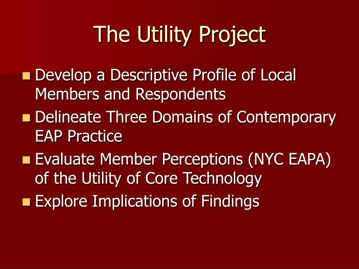 The Utility Project