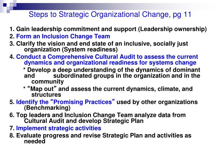 Steps to Strategic Organizational