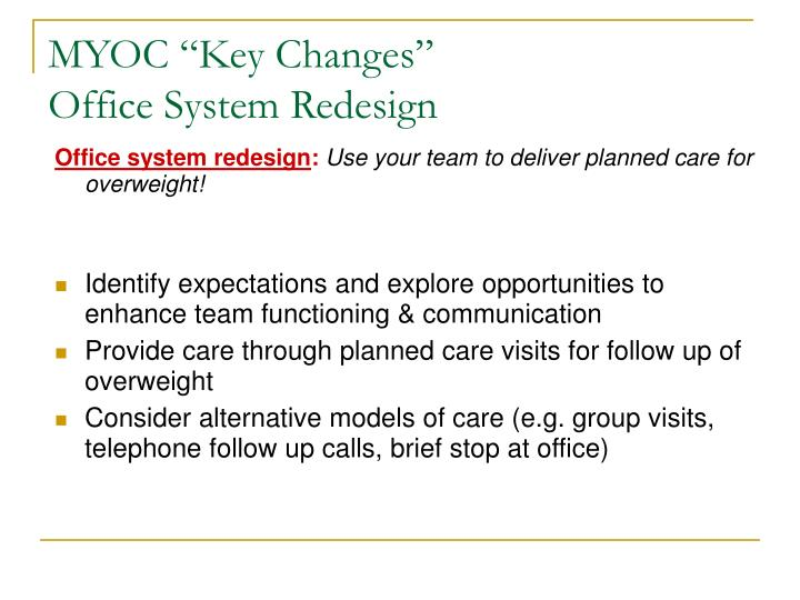"MYOC ""Key Changes"""