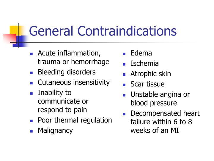 Acute inflammation, trauma or hemorrhage