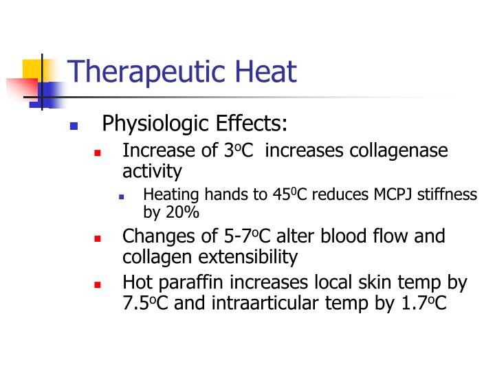 Therapeutic heat
