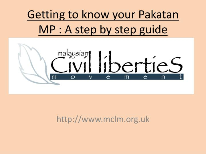 Getting to know your pakatan mp a step by step guide