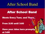 after school band