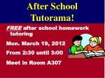 after school tutorama