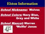 elston information1