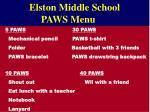 elston middle school paws menu