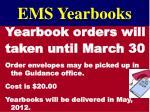 ems yearbooks