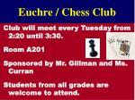 euchre chess club