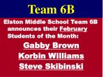 team 6b