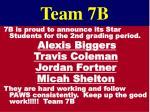 team 7b