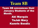 team 8b